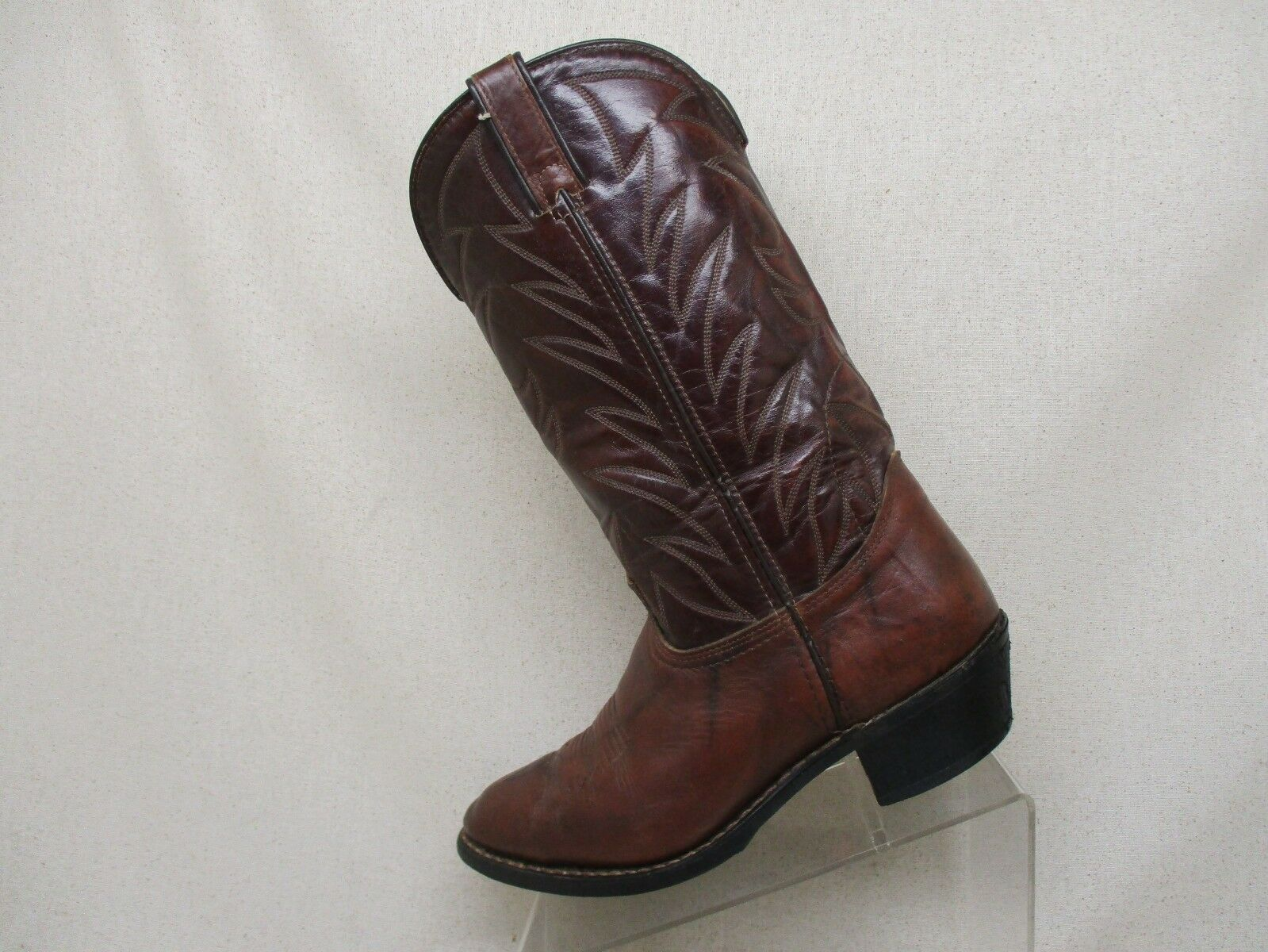 DURANGO Brown Leather Cowboy Western Boots Mens Size 9 D Style 07092