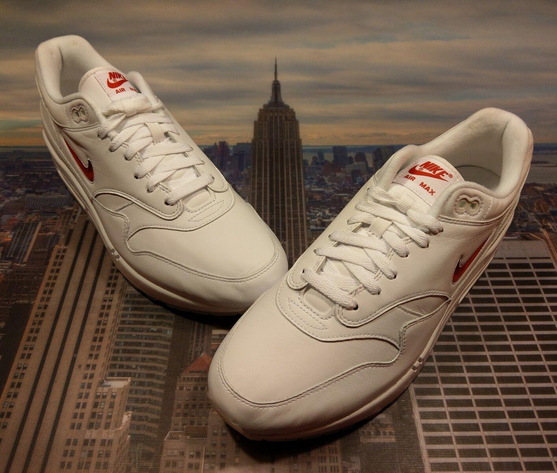 Nike air max 1 premio sc jewel ruby university white / university ruby red taglia 12,5 918354 104 828f62