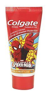Details about Colgate Toothpaste Kids Spiderman Bubble Fruit 80 gram  Children - India
