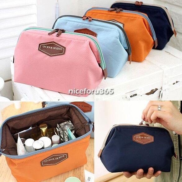 New Toiletry Travel Make Up Cosmetic pouch bag Clutch Handbag Casual Purses N4U8