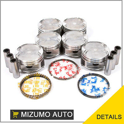 Pistons w/ Rings @STD fit 93-02 Ford Probe Mazda MX6 626  Millenia V6 2.5L KL
