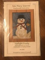 Sew Many Seasons, Sms-101, Starlight Frosty Punchneedle Embroidery -
