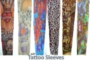 Details About Unisex Fake Temporary Hand Tattoo Sleeve Stretchy Tight Material Fancy Dress New