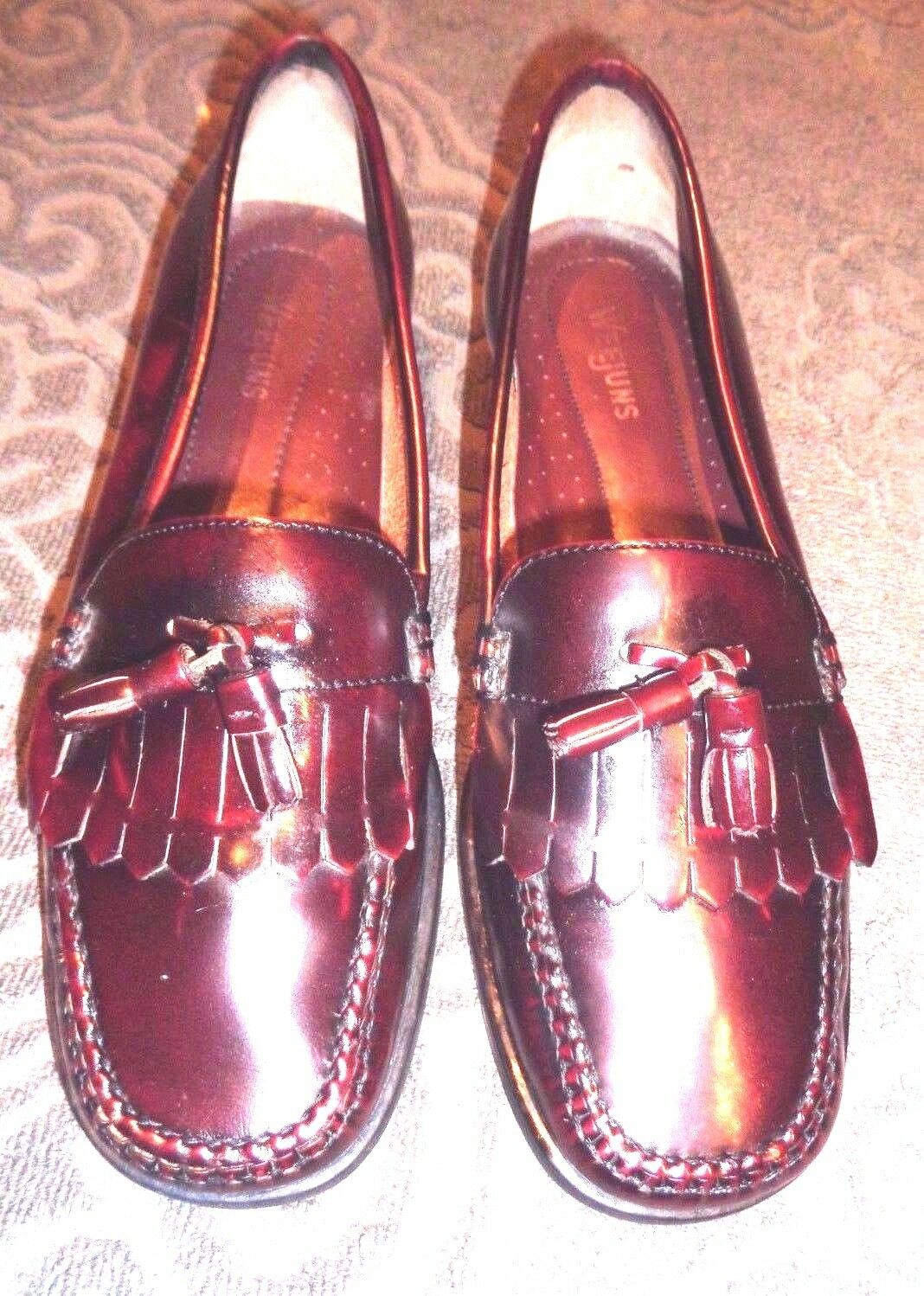 AUTHENTIC BASS BLOOD WEEJUNS OX BLOOD BASS  WINNY TASSEL LOAFERS SHOES 8.5 M ecc622