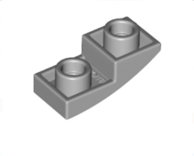 NEW. X 10 24201 LEGO Lt Bluish Grey Curved Slope 1 X 2 Inverted
