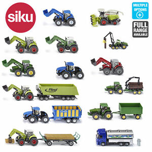 Set Of 3 Die Cast Plastic Farm Tractor Toys