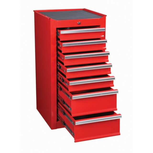 Tool Box Chest Glossy Red 7 Drawer End Cabinet Toolbox Storage Mechanic Garage