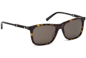 1fdf440c5253 NWT Mont Blanc Sunglasses MB 606S 52E Dark Havana   Brown 54 mm ...