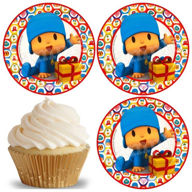Pocoyo Eßbar Tortenaufleger Party Deko Muffinaufleger Cupcake neu dvd Comic Buch