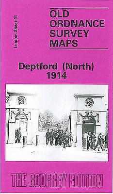 OLD ORDNANCE SURVEY MAP Deptford (North) 1914: London Sheet 091.3