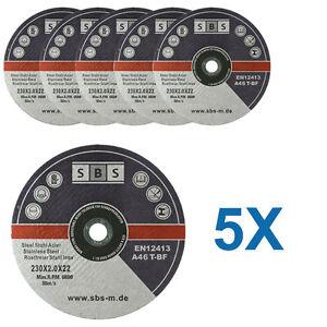 5-DISQUES-TRONCONNER-230-x-2-MM-MEULEUSE-TRONCONNEUSE-MARQUE-SBS