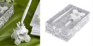 Resin-Pumpkin-Carriage-Shape-Party-Supplies-Decor-Wedding-Pen-Set-amp-Holder