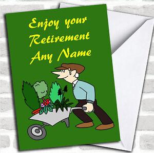 Gardening Personalised Retirement Greetings Card