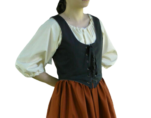 X-Mas Cosplay Costume RENAISSANCE VICTORIAN MEDIEVAL PIRATE TOP WENCH BODICE