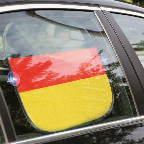 2x Sonnenblende 44x36 cm für Auto Seitenfenster Design Deutschland Fahne Flagge