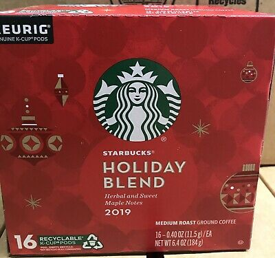 Starbucks Holiday Blend Medium Roast Ground Coffee Keurig ...