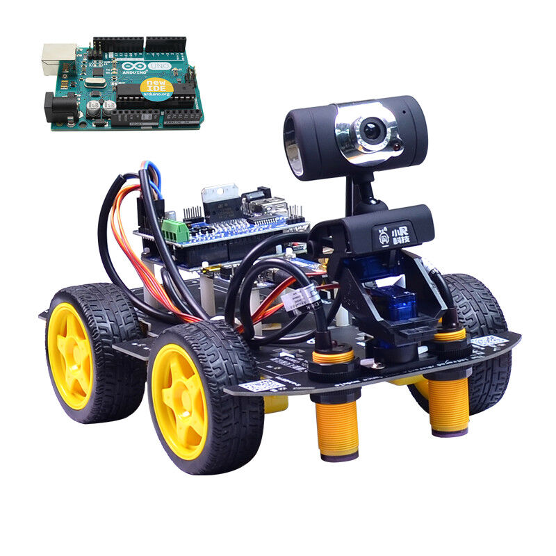 Xiao R DIY Smart Robot Wifi Video Control Car with Camera Gimbal Arduino UNO R3