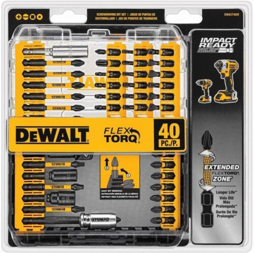 Screwdriver Bit Set DEWALT Impact Ready Hex Tool Ready Impact  Shank Steel 40pcs