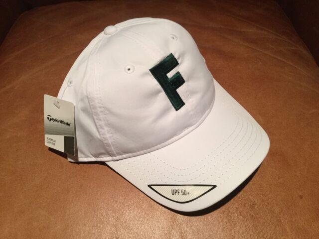 6c5452609 TaylorMade Headwear Performance Custom Men's White Golf Hat UPF 50+ Green F  Logo