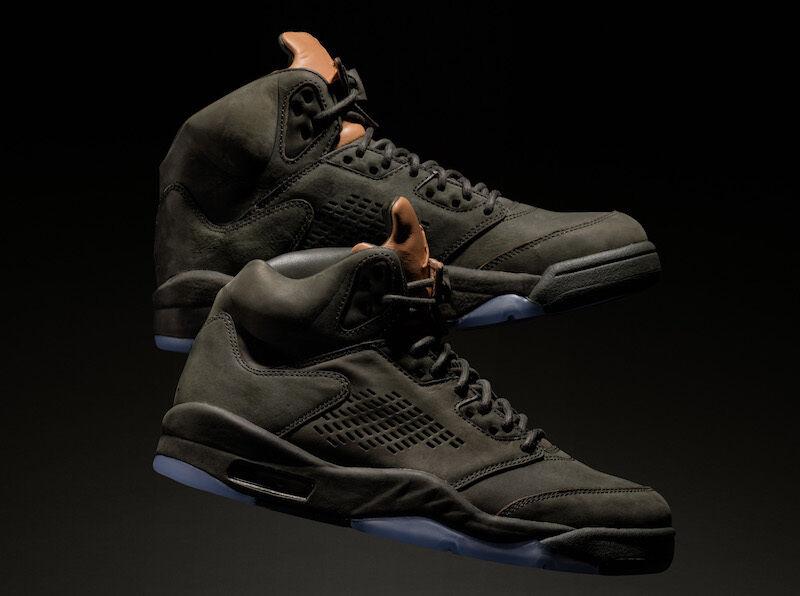 d9668a59638 2017 Nike Air Jordan 5 V Retro PRM Take Flight Olive Green Size 9.5. 881432