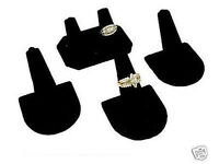 4 Ring Display Black Velvet Double Jewelry Showcase