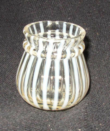 EAPG Victorian Northwood Opalescent Stripe Ring Neck toothpick holder