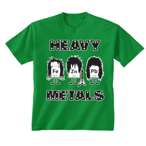 Kids Childrens Heavy Metals Science Funny Headbang Geek Symbols T-shirt 5-13