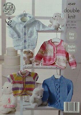 KNITTING PATTERN Baby Easy Knit Hoodie Jumper & Cardigans DK 4549