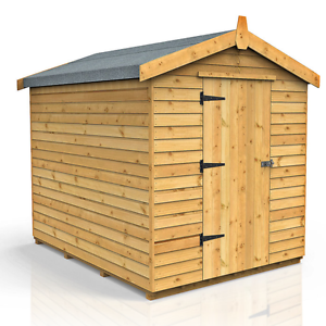 image is loading very strong secure 8ft x 6ft apex wooden - Garden Sheds Very
