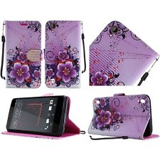 For HTC Desire 530 PU Leather Wallet Phone Cover Case Protector - Fantasy Flower