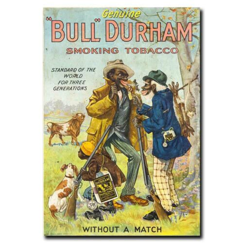 Bull Durham Smoking Tobacco 12x18inch Vintage Style Advertisment Silk Poster
