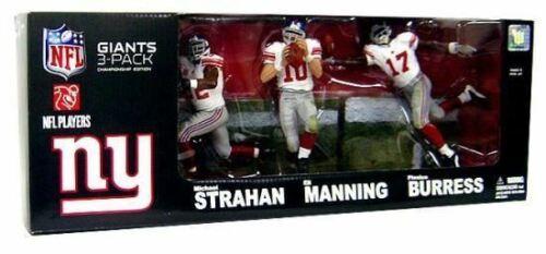 McFarlane New York Giants Championnat Exclusive Action Figure Manning Strahan B