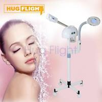 2in1 Desktop Led Magnifying Lamp + Stand Facial Ozone Steamer Skincare Salon Ce