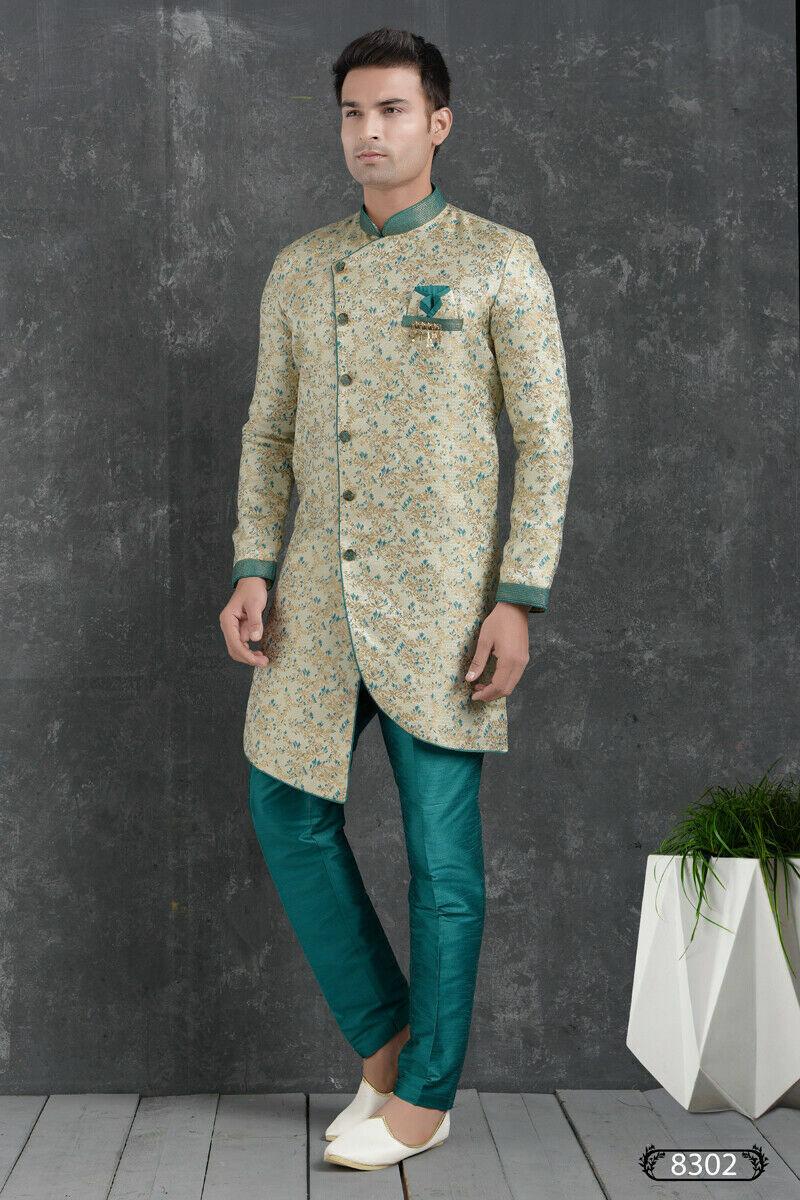 Indian Wedding Wear Mens Designer Traditional Bollywood Semi Indo Western India