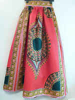 Grass-fields Aka The African Shop Maxi Long Skirt Rrp £80 Red Uk Freepost