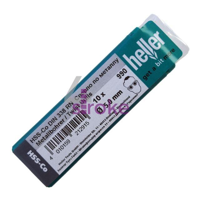 High Quality German Heller HSS Cobalt Drill Bits HSS-Co Bit Pack of 10 New 1mm