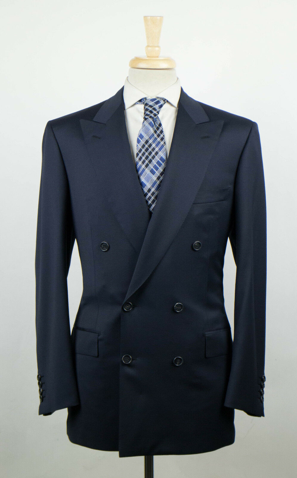 New. BRIONI Flaminio Blau Wool Double Breasted Sport Coat Größe 50/40 R 3995