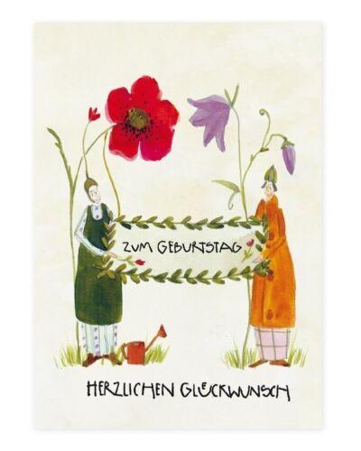 Karte Gärtner Gruß HERZLICHEN GLÜCKWUNSCHGlückwunschkarte Postkarte