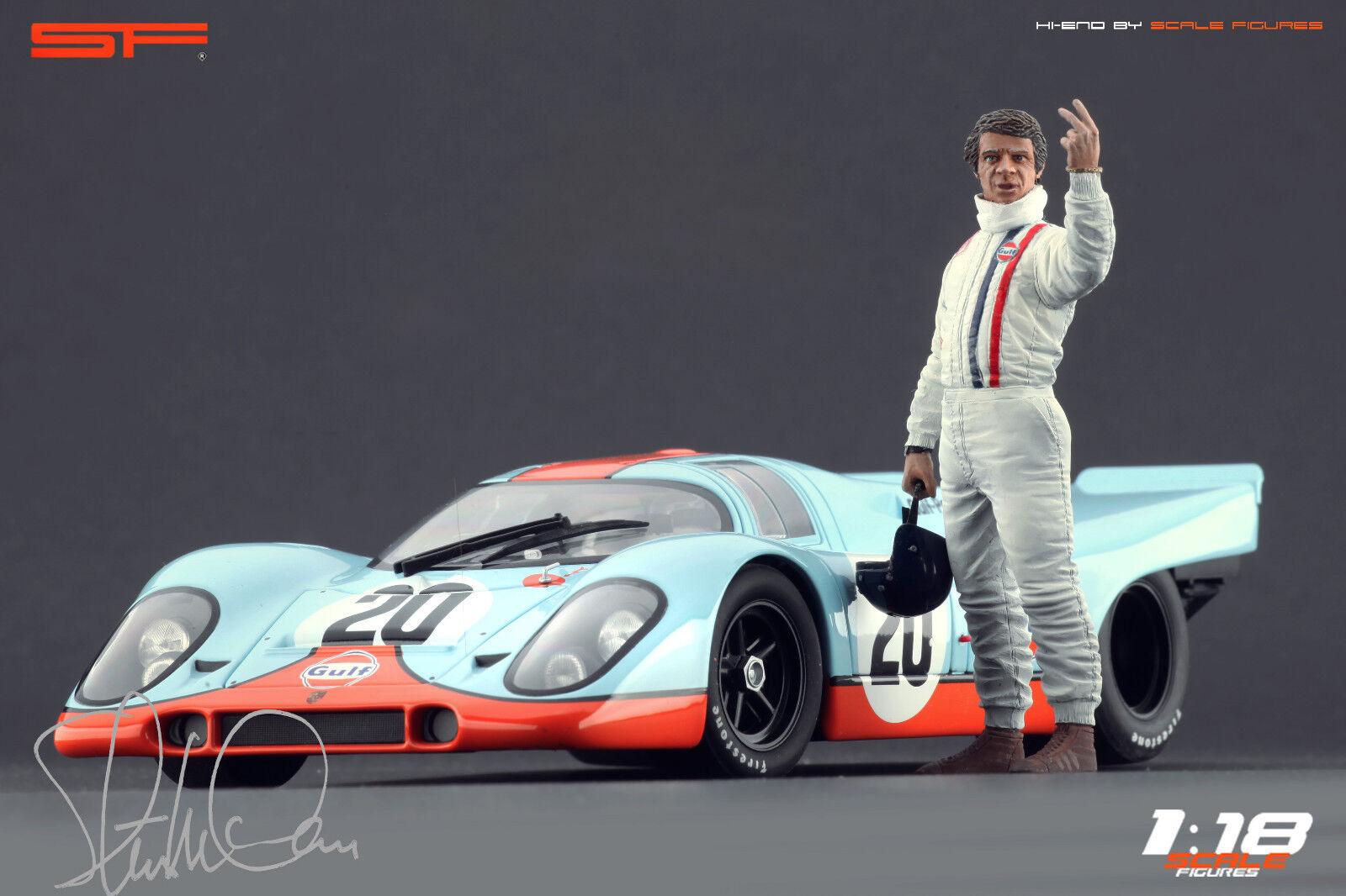 1 18 Steve Mcdrottning Le Mans statyett Ingen bil Herregud FOR 1 18 bilkonst Porsche 917
