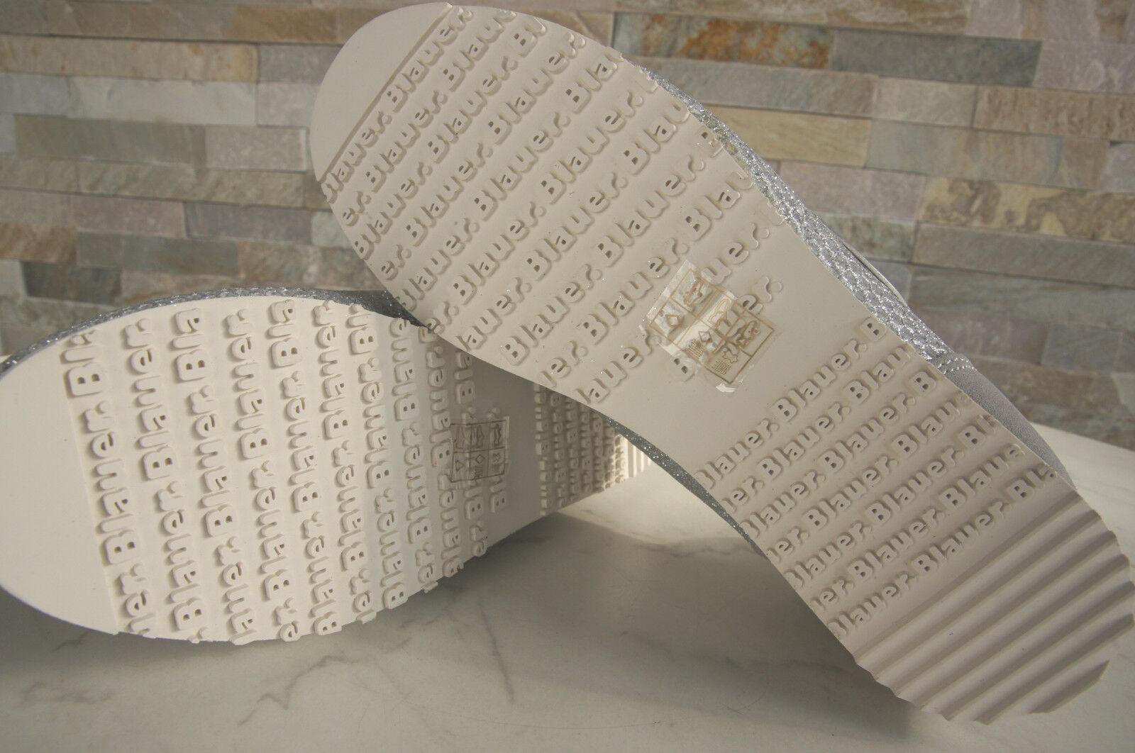 BLAUER USA Taglia normalissime 40 SNEAKERS normalissime Taglia scarpe Bowling grigie argento NUOVO UVP 256999
