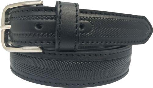 L XL 100/% Véritable Cuir Italien ceinture noir classique Herringbone S XXL 30 mm M