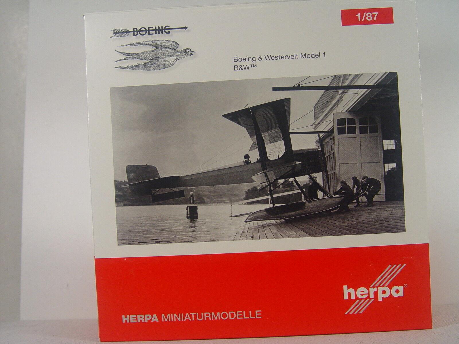 Boeing & westervelt MODEL 1 biplan-Herpa Modèle 1:87 - 019316 # E | D'adopter La Technologie De Pointe