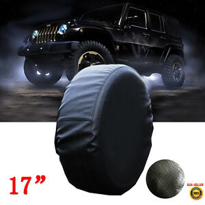 17 Quot Black Spare Wheel Tire Tyre Case Cover 235 85r16 255 75r17