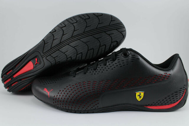 19c9f2be PUMA SF DRIFT CAT 5 ULTRA II 2 BLACK/ROSSO CORSA RED FERRARI F1 RACING MEN  SIZES
