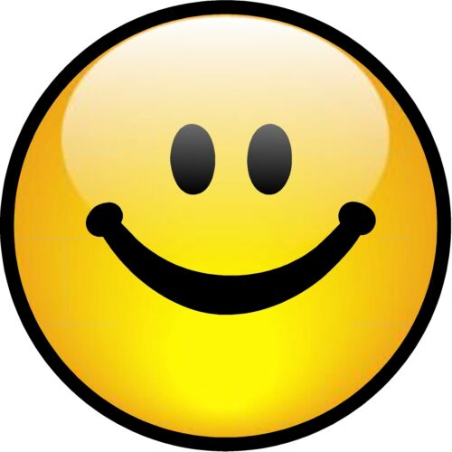 """Happy Harmony Series World Peace 2146 1-4/"""" Yellow Smiley Face Decal Sticker"""