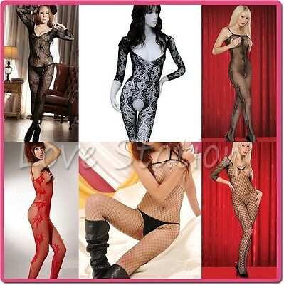 Fishnet Body Stockings Open Crotch Various Styles Clearance Sale
