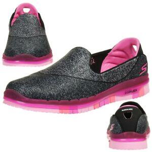 Details about Skechers Go Flex Athletic Children Slip on Girls Girl  Ballerina