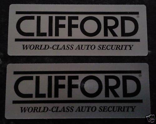 2 x original clifford car alarm window warning stickers decal ebay
