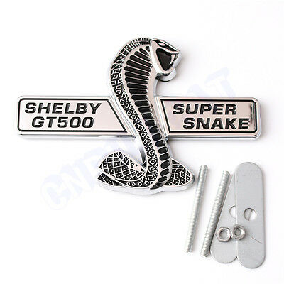 Cobra 3D Emblem Sticker Metall Ford Shelby Mustang GT Auto Car Neu