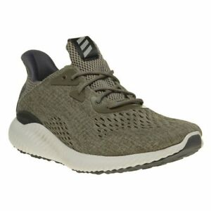 new style ab137 52a1c Image is loading New-MENS-ADIDAS-KHAKI-GREEN-ALPHA-BOUNCE-NYLON-